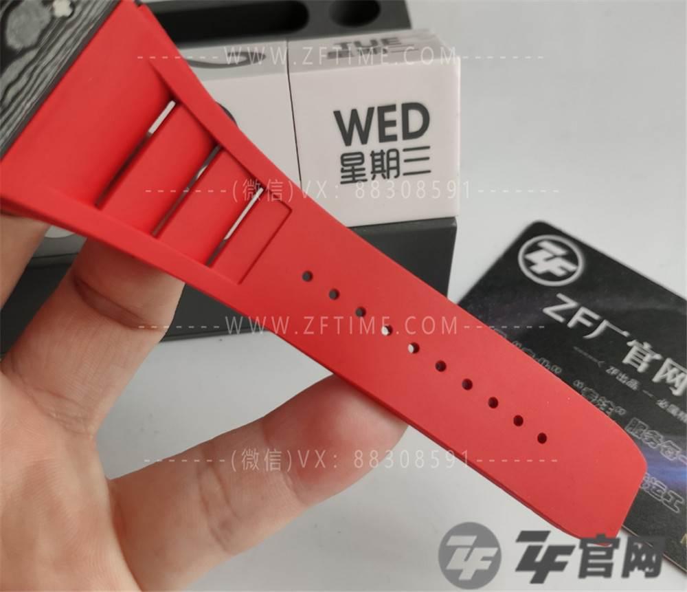 ZF厂复刻Richard mille理查德米勒rm035-2碳纤维腕表评测-红表带