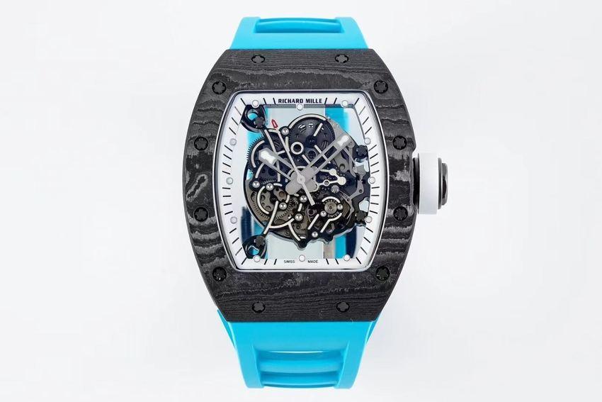 ZF厂再造传奇理查德米勒RM055碳纤维限量款-蓝