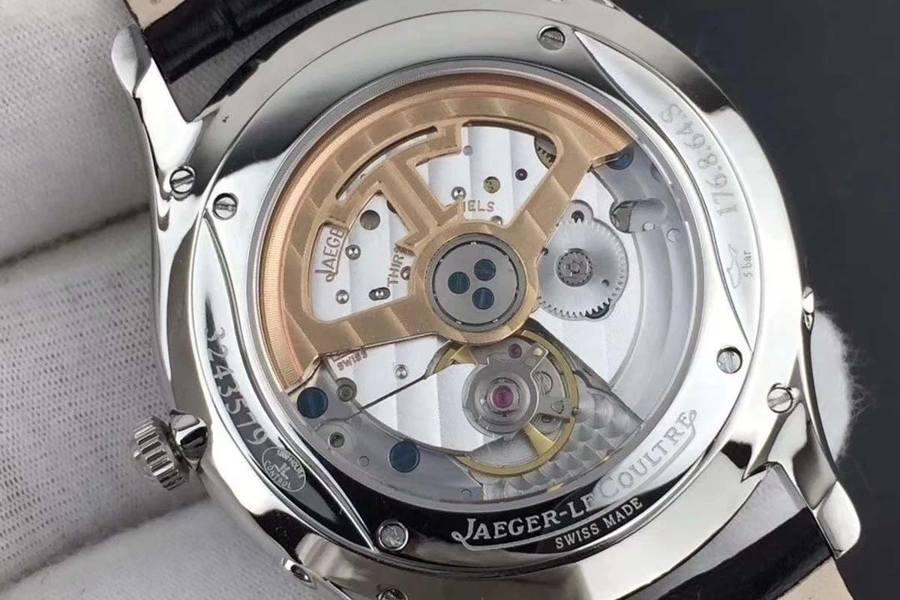 ZF厂积家超薄大师系列黑盘月相腕表做工细节评测